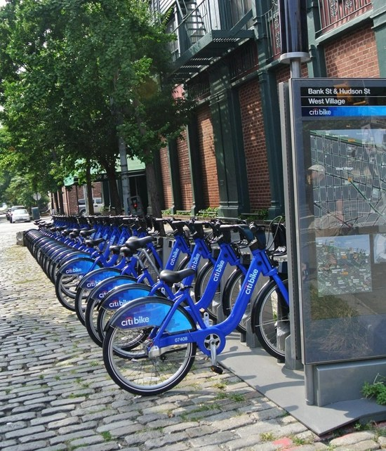 citibikes in west village