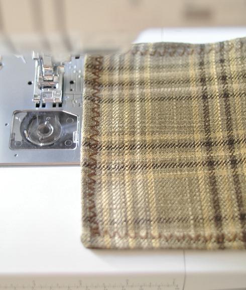decorative stitch along edge