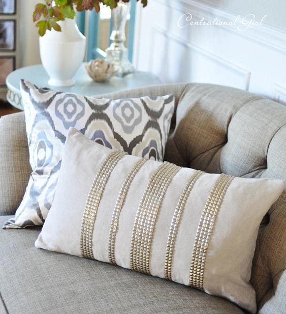diy studded pillow
