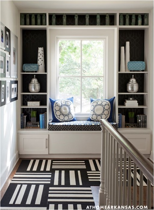 graphic black and white rug tiles