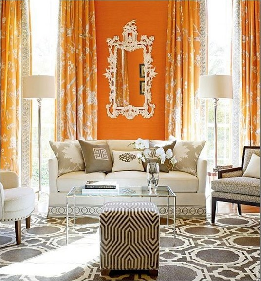 gray and orange living room mary mcdonald
