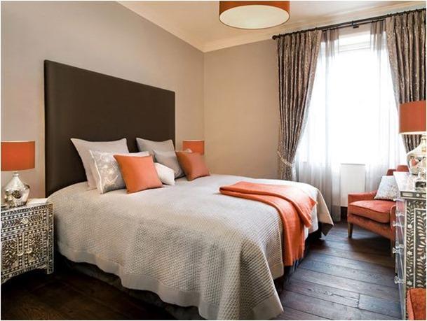 Boys Gray And Orange Bedroom ...