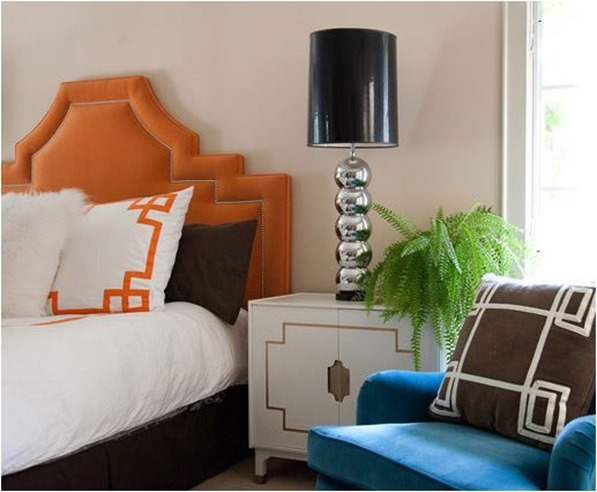 orange tufted headboard marmalade interiors