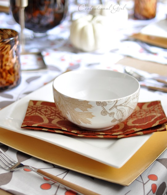 autumn leaves soup bowl