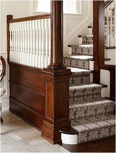 wood stairs bhg