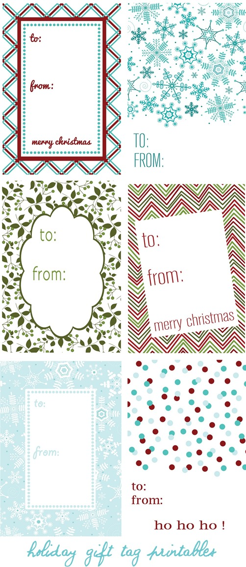 holiday gift tag templates