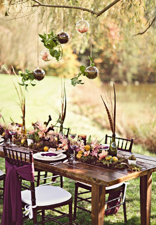 outdoor table setting