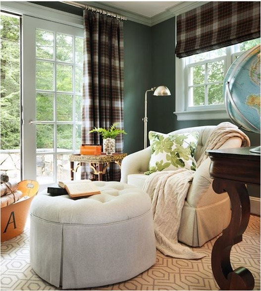 tartan window panels sitting room