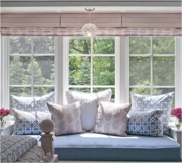 blue paisley accent pillows