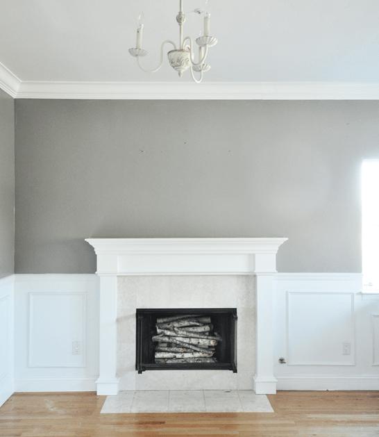 rockport gray walls and mantel