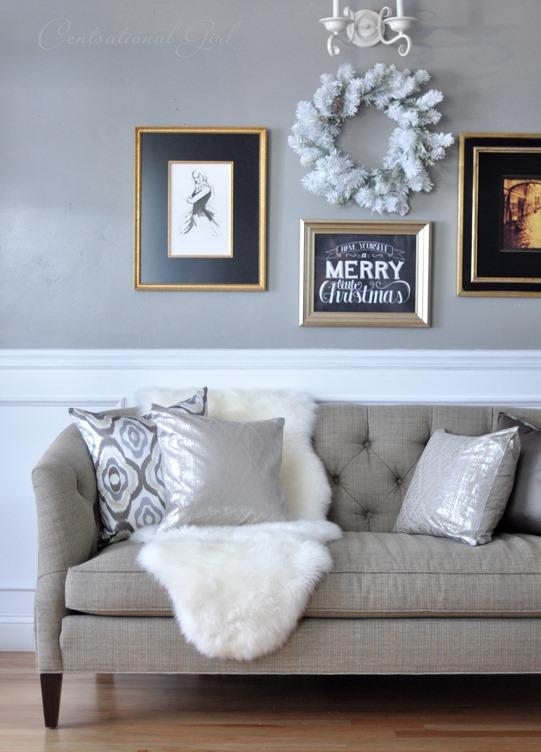 Genial Sheepskin Rug Tufted Sofa