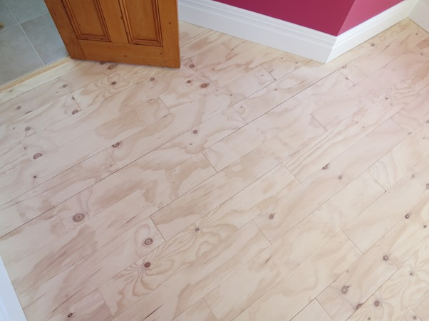 Great Plywood Plank Floor
