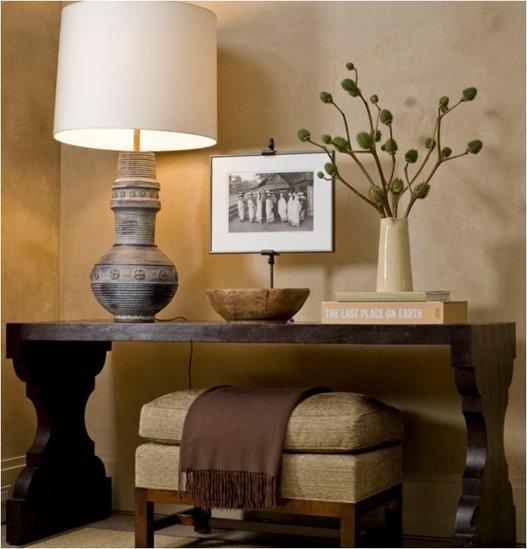 console lamp ottoman