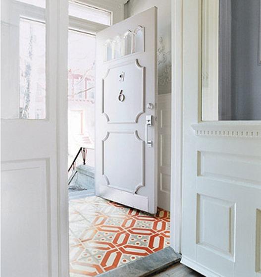 entry tile floor domino