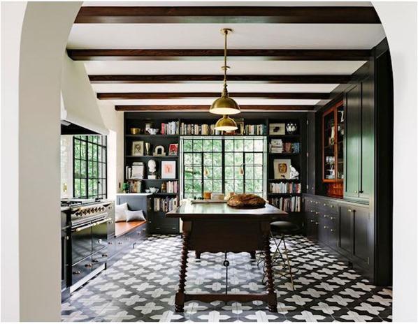 jessica helgerson geometric tile floor