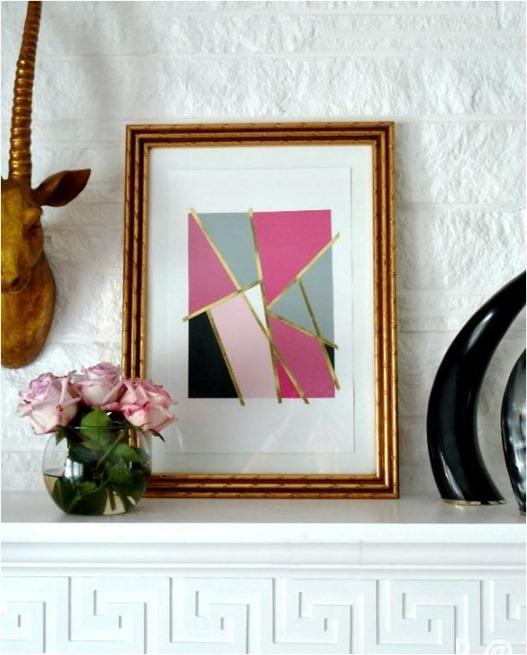 mondrian inspired art bliss at home