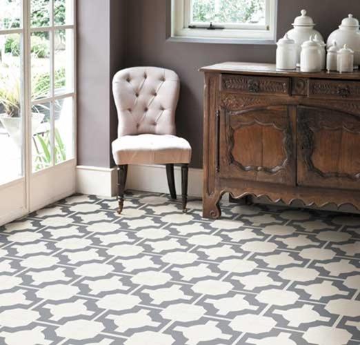 Pattern files geometric tile floors centsational style vinyl geometric flooring ppazfo