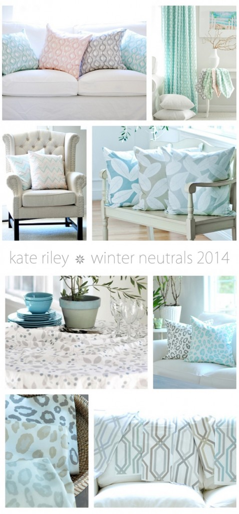 kate riley winter fabrics collage