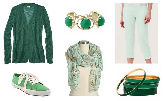 stylish green fashion finds