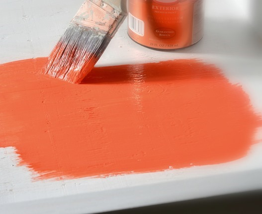 orange paint for bed