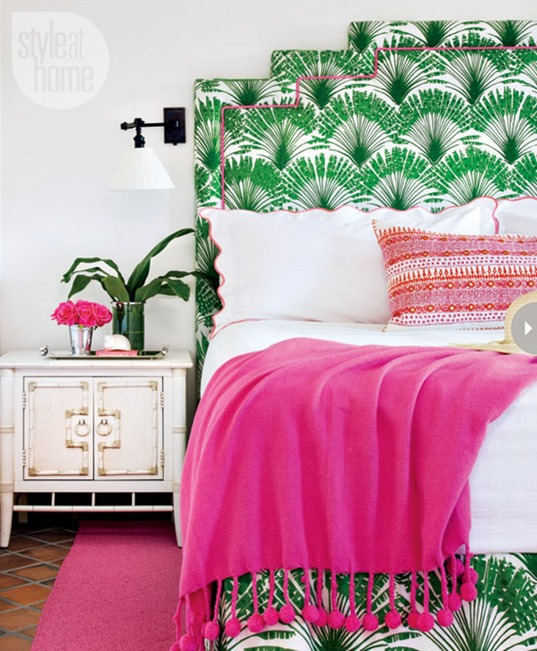 palm print headboard