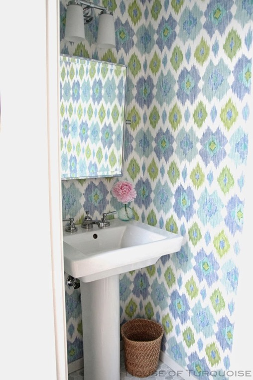 house of turquoise powder room