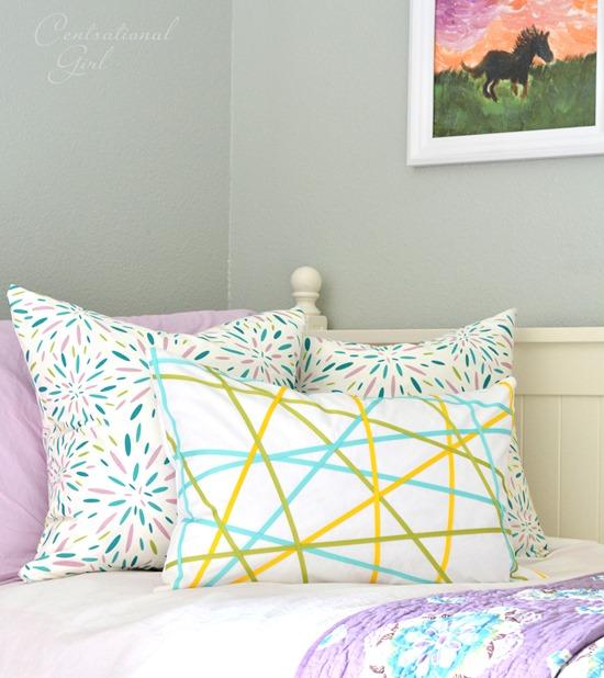 diy ribbons pillow girls room