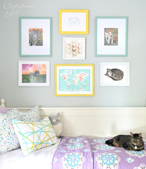 girls room wall gallery
