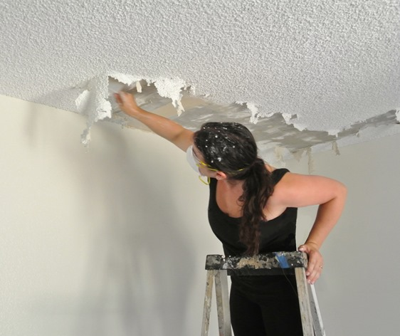 The Joy Of Popcorn Ceiling Removal  Centsational Girl