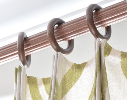 faux pleats in window panels
