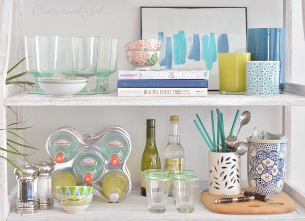 Trend shelf styling bakers rack