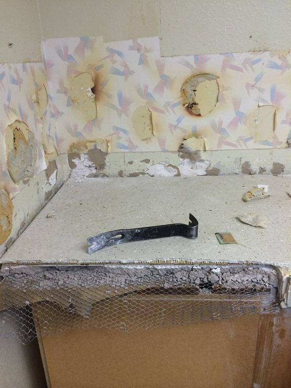 Kitchen Tile Countertop Demo