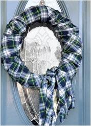 scarf wreath