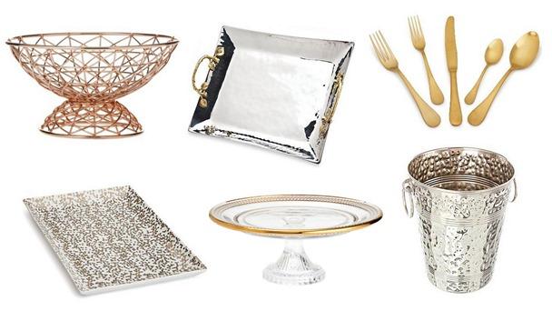 silver gold serveware