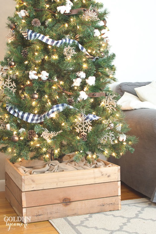 Botb holiday edition centsational style for Wooden box tree stands