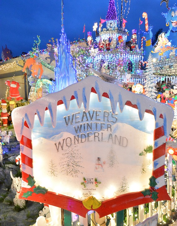 weavers winter wonderland sign