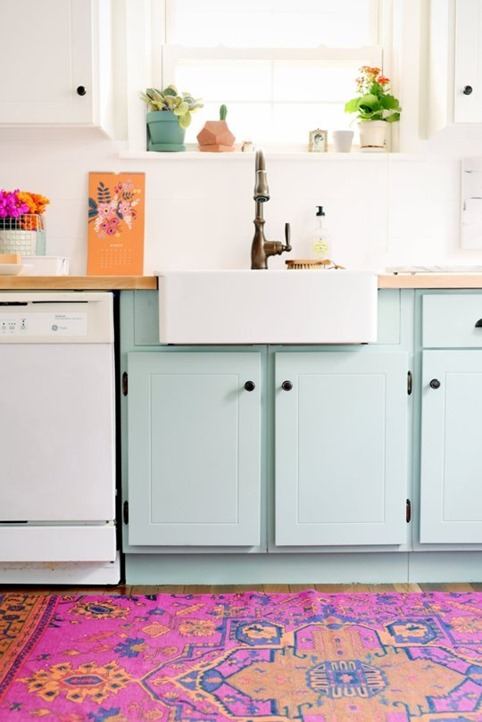 budget kitchen remodel blue kitchen cabinets