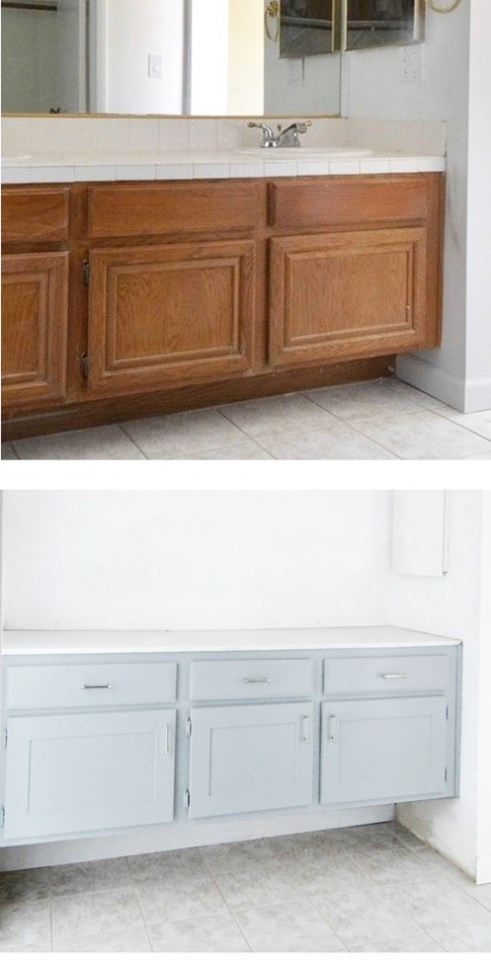 Builder Grade To Floating Vanity Centsational Style
