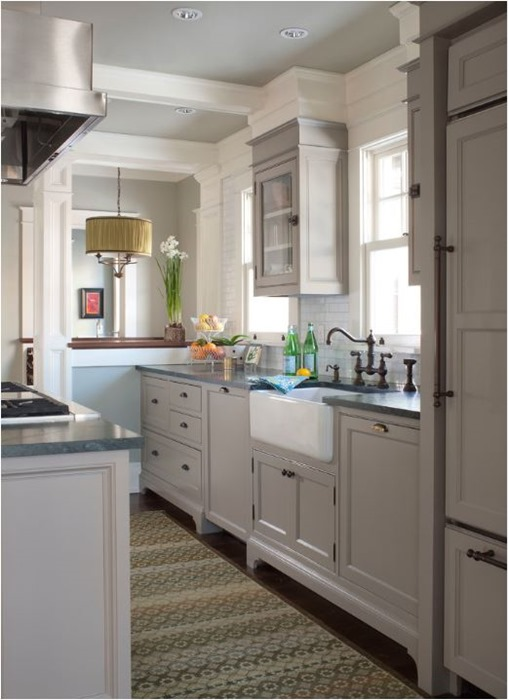 Ideal gray kitchen cabinets