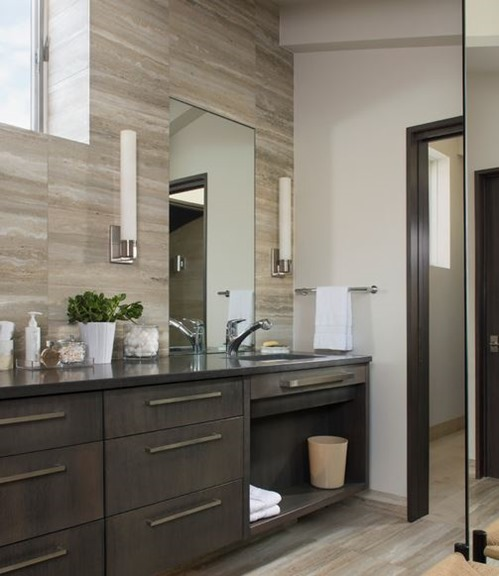modern bathroom tile backsplash