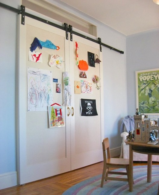 barn door art display