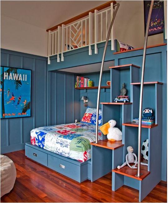 Good blue loft bed