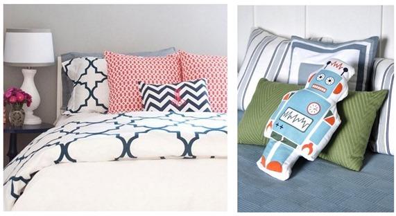 duvet and robot pillow