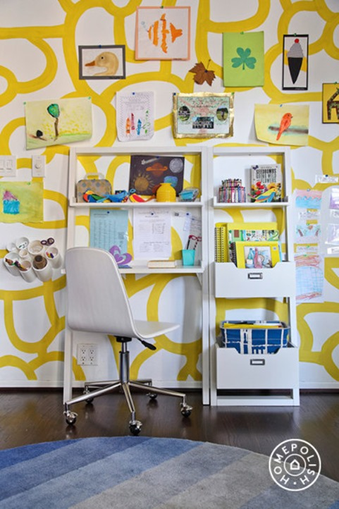graphic wall kids room