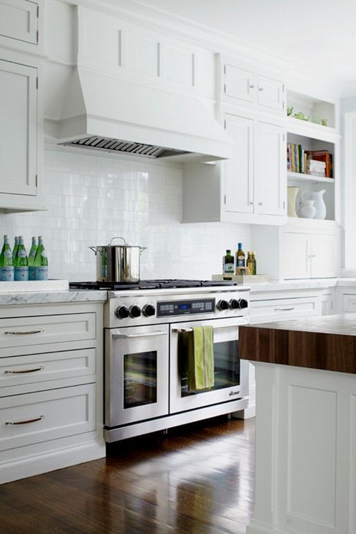 White Kitchen Hidden Under Cabinet Hood