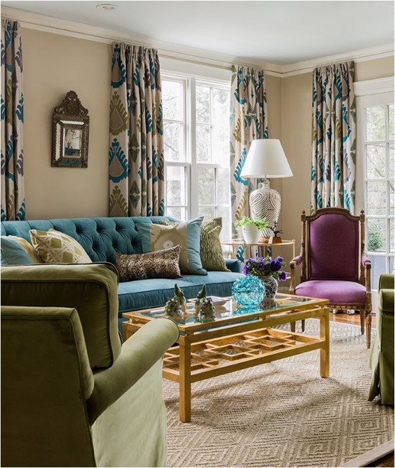 Decorating with Analogous Color | Centsational Style