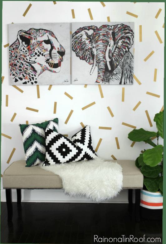 confetti accent wall