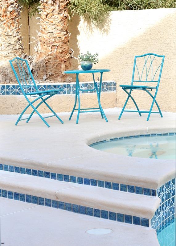 pool steps and spa