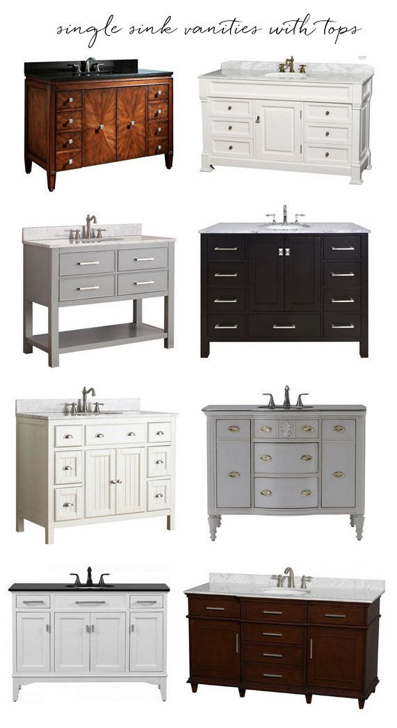 Awesome single sink vanities with tops