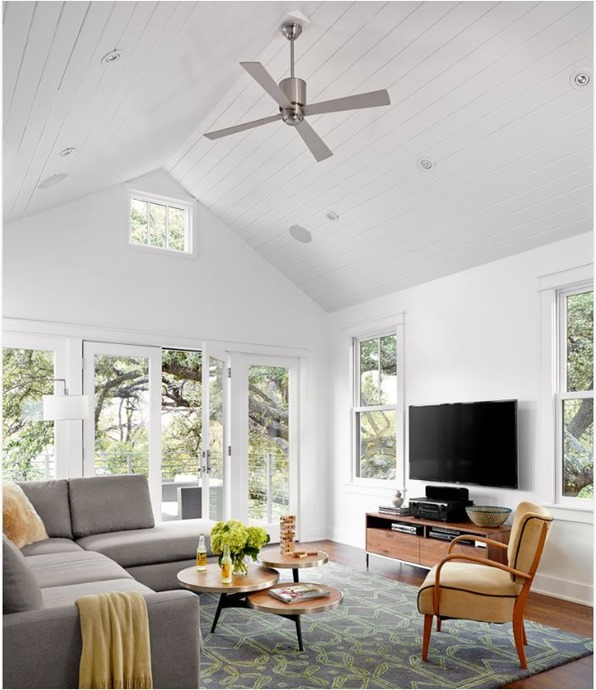 aluminum fan pitched ceiling